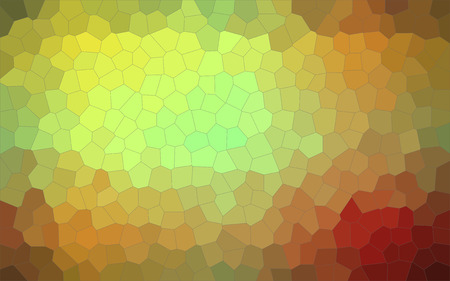 Illustration of red, green and yellow Little hexagon background