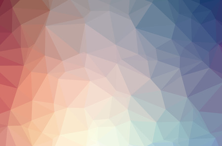 Illustration of abstract Blue, Green, Yellow And Red horizontal low poly background. Beautiful polygon design pattern. Useful for your needs.