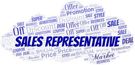 Sales Representative Word Cloud. Wordcloud Made With Text. Illustration