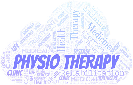Physio Therapy word cloud. Wordcloud made with text only.