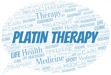 Platin Therapy word cloud. Wordcloud made with text only. Stok Fotoğraf - 124167688