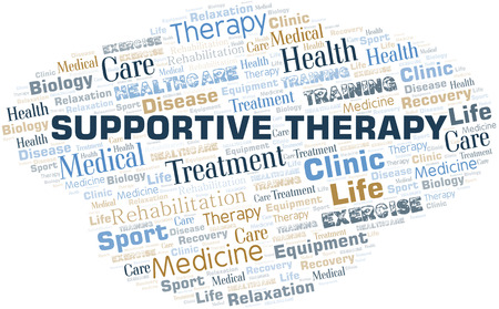 Supportive Therapy word cloud. Wordcloud made with text only.