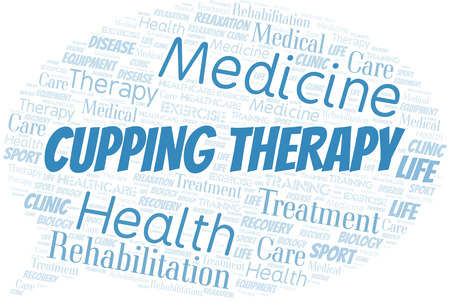 Cupping Therapy word cloud. Wordcloud made with text only.