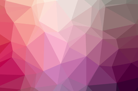 Illustration of abstract Pink horizontal low poly background. Beautiful polygon design pattern. Useful for your needs.
