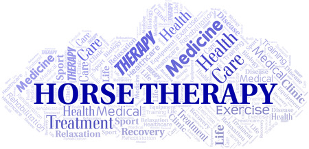 Horse Therapy word cloud. Wordcloud made with text only.