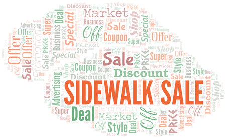 Sidewalk Sale Word Cloud. Wordcloud Made With Text.