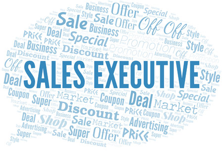 Sales Executive Word Cloud. Wordcloud Made With Text.