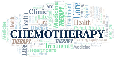 Chemotherapy word cloud. Wordcloud made with text only.