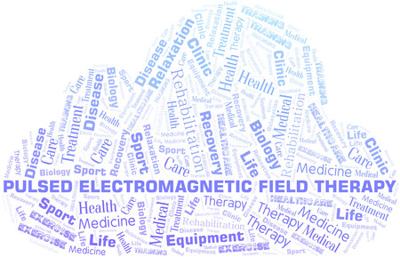 Pulsed Electromagnetic Field Therapy word cloud. Wordcloud made with text only.
