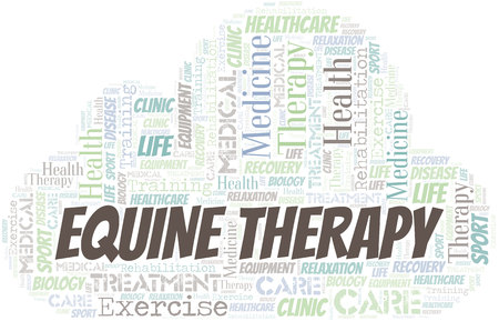Equine Therapy word cloud. Wordcloud made with text only.