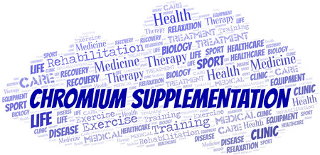Chromium Supplementation word cloud. Wordcloud made with text only.