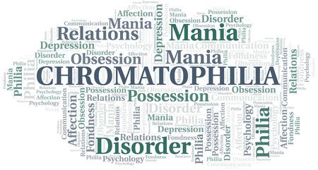 Chromatophilia word cloud. Type of Philia.