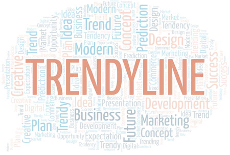 Trendyline word cloud. Wordcloud made with text only. Çizim