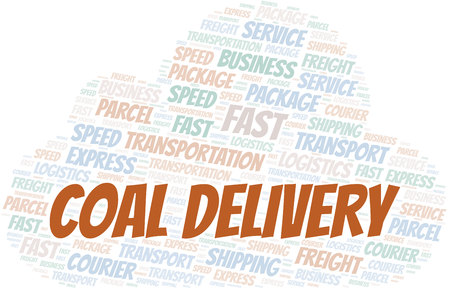 Coal Delivery word cloud. Wordcloud made with text only.