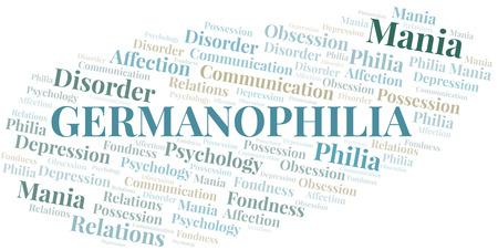 Germanophilia word cloud. Type of Philia.