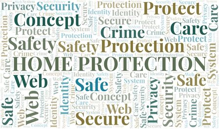Home Protection word cloud. Wordcloud made with text only.