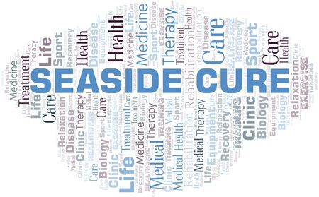 Seaside Cure word cloud. Wordcloud made with text only.