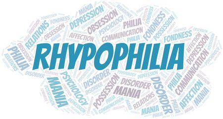 Rhypophilia word cloud. Type of Philia.