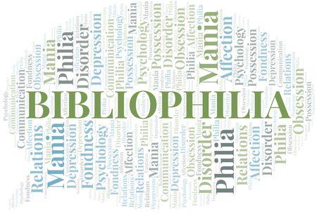 Bibliophilia word cloud. Type of Philia.