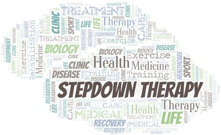 Stepdown Therapy word cloud. Wordcloud made with text only. 向量圖像