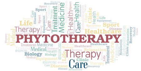 Phytotherapy word cloud. Wordcloud made with text only.