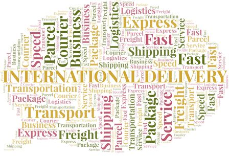 International Delivery word cloud. Wordcloud made with text only.