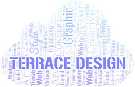 Terrace Design word cloud. Wordcloud made with text only.