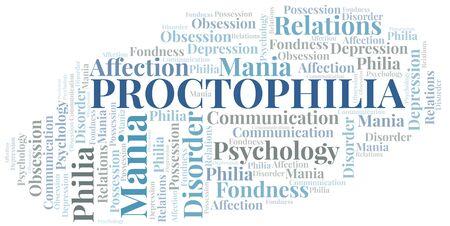 Proctophilia word cloud. Type of Philia.