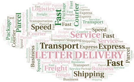 Letter Delivery word cloud. Wordcloud made with text only.
