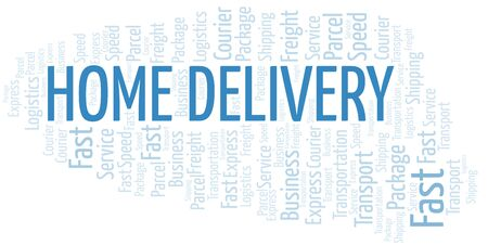Home Delivery word cloud. Wordcloud made with text only.