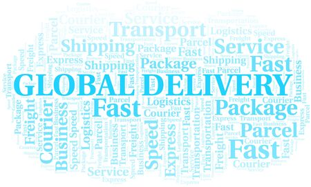 Global Delivery word cloud. Wordcloud made with text only.