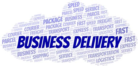Business Delivery word cloud. Wordcloud made with text only.
