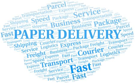 Paper Delivery word cloud. Wordcloud made with text only.