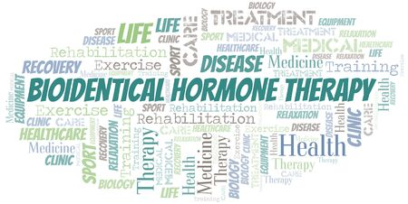Bioidentical Hormone Therapy word cloud. Wordcloud made with text only.