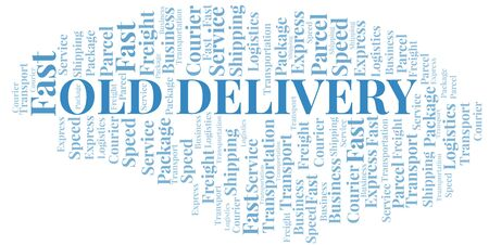 Old Delivery word cloud. Wordcloud made with text only.