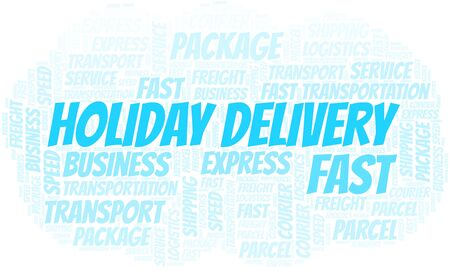 Holiday Delivery word cloud. Wordcloud made with text only.