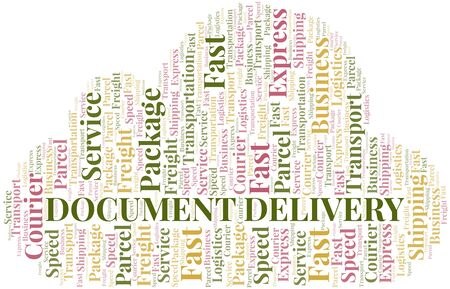 Document Delivery word cloud. Wordcloud made with text only.