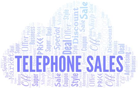 Telephone Sales Word Cloud. Wordcloud Made With Text. Standard-Bild - 124720047