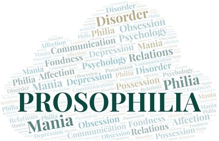 Prosophilia word cloud. Type of Philia. Standard-Bild - 124720323