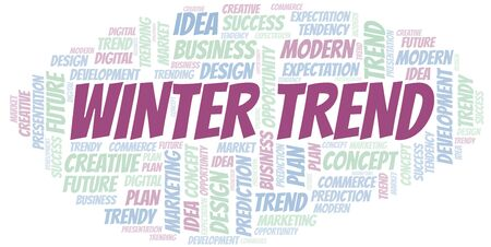 Winter Trend word cloud. Wordcloud made with text only.