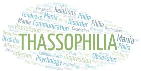 Thassophilia word cloud. Type of Philia. Imagens - 124996950