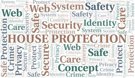 House Protection word cloud. Wordcloud made with text only.