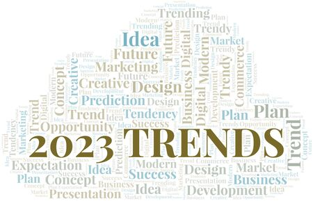 2023 Trends word cloud. Wordcloud made with text only.