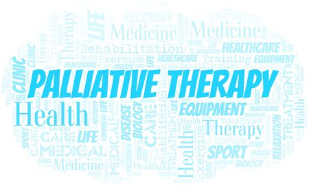 Palliative Therapy word cloud. Wordcloud made with text only.