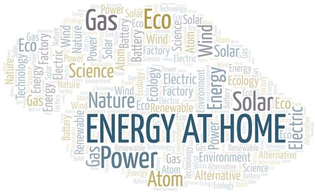 Energy At Home word cloud. Wordcloud made with text only.