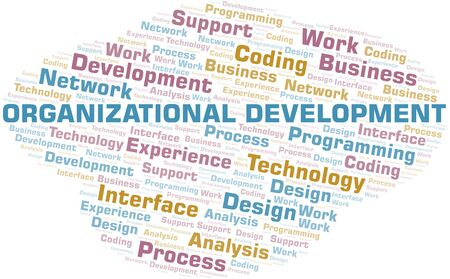 Organizational Development word cloud. Wordcloud made with text only. Illustration