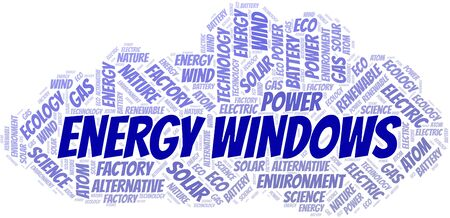 Energy Windows word cloud. Wordcloud made with text only.