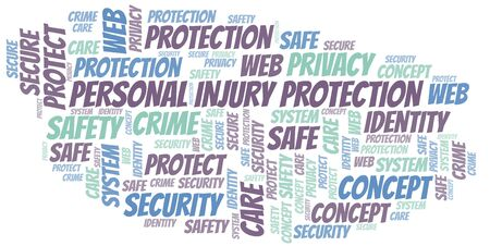 Personal Injury Protection word cloud. Wordcloud made with text only.
