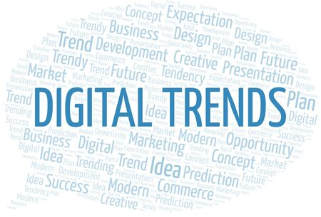 Digital Trends word cloud. Wordcloud made with text only.
