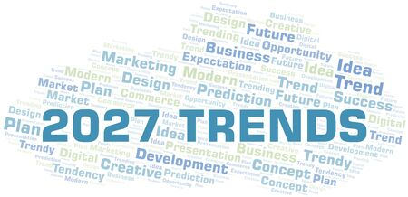 2027 Trends word cloud. Wordcloud made with text only.